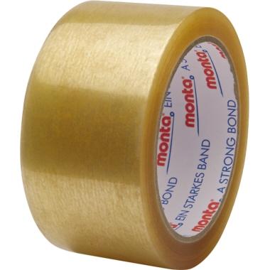 Monta Packband 315 50 mm x 66 m (B x L) Polypropylen transparent 6 St./Pack.