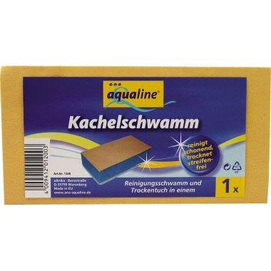 aQualine Reinigungsschwamm 14,5 x 7,5 x 4 cm (B x H x T) gelb/blau