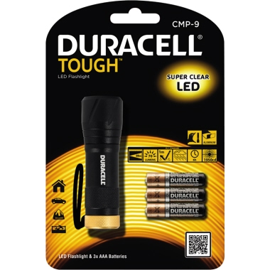 DURACELL Taschenlampe TOUGH™ 88m 70lm LED 6 h AAA/Micro inkl. Handschlaufe Aluminium