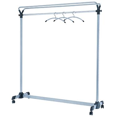 ALBA Garderobenständer Group3 161,3 x 171,9 x 54 cm (B x H x T) Stahl, pulverbeschichtet silber/schw