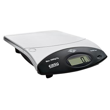 WEDO® Briefwaage easy 4 g - 2kg ohne Netzanschluss silber/schwarz
