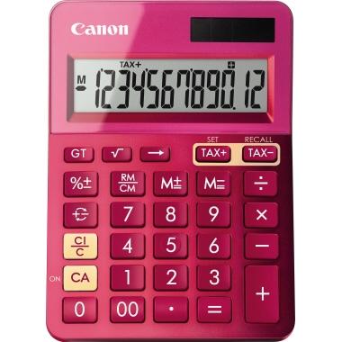 Canon Taschenrechner LS-123K 1 x 12-stellig pink metallic Solar-Energie, Batterie