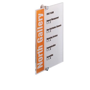 DURABLE Türschild CRYSTAL SIGN 210 x 297 mm (B x H) Beschriftungsschild auswechselbar Acrylglas tran
