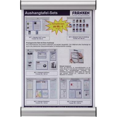 Franken Türschild Clip 148 x 148 mm (B x H) Beschriftungsschild auswechselbar Aluminium, Kunststoff