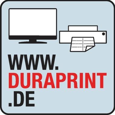 DURABLE Selbstklebetasche POCKETFIX® 4 x 12,5 cm (B x H) Weichfolie transparent 10 St./Pack.