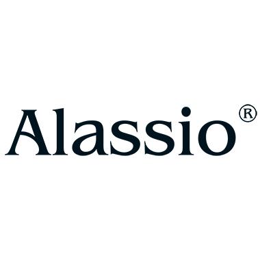 Alassio® Stifterolle 6 x 21 cm (Ø x L) Reißverschluss Leder blau