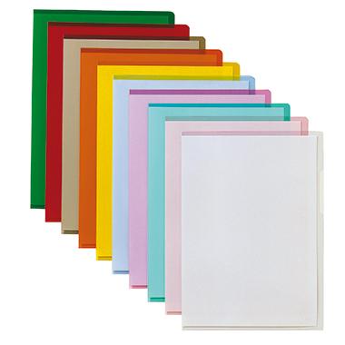 Bene Sichthülle DIN A4 0,15mm oben, rechts offen dokumentenecht PVC-Hartfolie farbig sortiert glänze