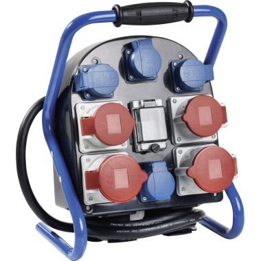 as-Schwabe Stromverteiler FLEXY 4 CEE-Stecker 400 V, 32 A, 5-polig H07RN-F 5G4 IP44 FI 40 A, 4-polig
