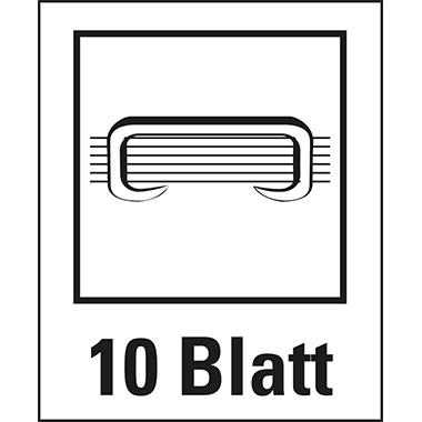 Leitz Elektroheftgerät NeXXt WOW fest 10 Bl. (80 g/m²) e1 Metall/Kunststoff violett