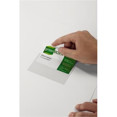 DURABLE Selbstklebetasche POCKETFIX® 9,4 x 6,1 cm (B x H) Weichfolie transparent 100 St./Pack.