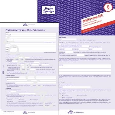 Avery Zweckform Arbeitsvertrag DIN A4 selbstdurchschreibend 2 x 3 Bl.