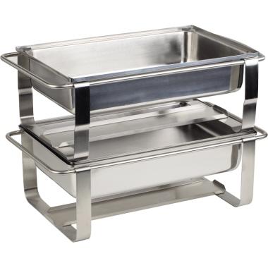APS Wärmebehälter CATERER PRO zwei Brennpastenbehälter, Wasserbecken, Vorrichtung für Heizplatte, Ge