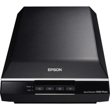 Epson Flachbettscanner PERFECTION V600 PHOTO DIN A4 6.400 x 9.600 dpi inkl. USB-Kabel, Netzteil, Gar