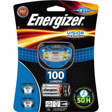 Energizer® Stirnlampe VISION 100lm 35m LED 10 h AAA/Micro Kunststoff blau/schwarz