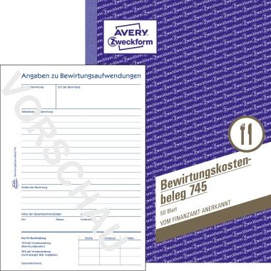 Avery Zweckform Bewirtungskostenbeleg DIN A5 60g/m² 50 Bl.