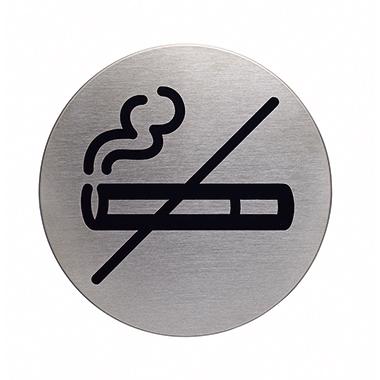 DURABLE Piktogramm Türschild PICTO 83mm Edelstahl, gebürstet silber metallic Rauchen - Nein -