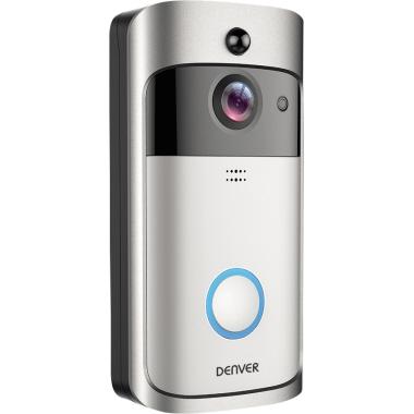 DENVER Türsprechanlage VDB-110 Außenbereich 166° 1 Kamera inkl. 3 Akkus, Innenraum-Alarm