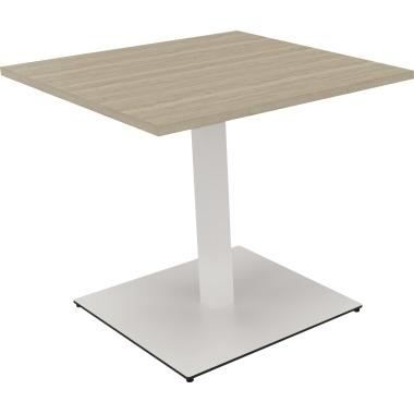 Konferenztisch communication 800 x 720 x 800 mm (B x H x T) Holz Farbe der Tischplatte: eiche natur