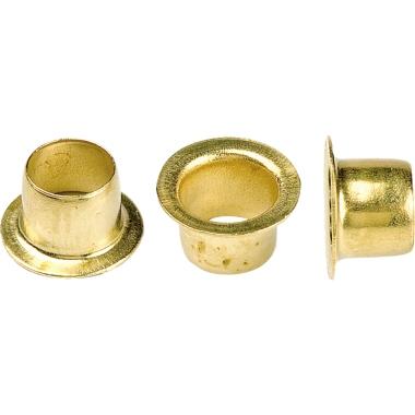 hang Ösen 25 Durchmesser: 4mm Länge: 4mm Stahl, vermessingt 10.000 St./Pack.