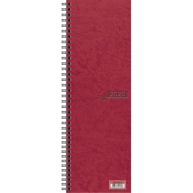 Glocken Buchkalender 2020 1 Woche/2 Seiten Karton rot