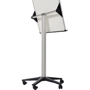 Bi-office Mobiles Flipchart Earth mit Ablageschale Sternfuß mit 5 Lenkrollen Stahl silber/schwarz