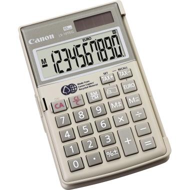 Canon Taschenrechner LS-10TEG 1 x 10-stellig grau Solar-Energie, Batterie