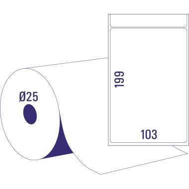 Avery Zweckform Adressetikett 103 x 199 mm (B x H) Papier weiß 350 Etik./Rl. 2 x 350 Etik./Pack.