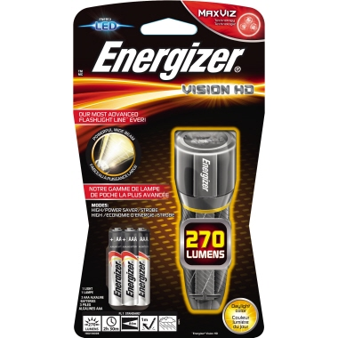 Energizer® Taschenlampe VISION HD 84m 270lm LED 2,5 h AAA/Micro Metall