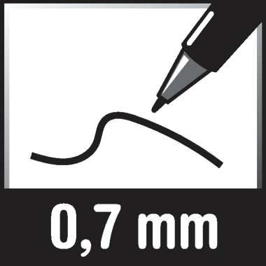 edding Fineliner 1800 profipen 0,7mm schwarz