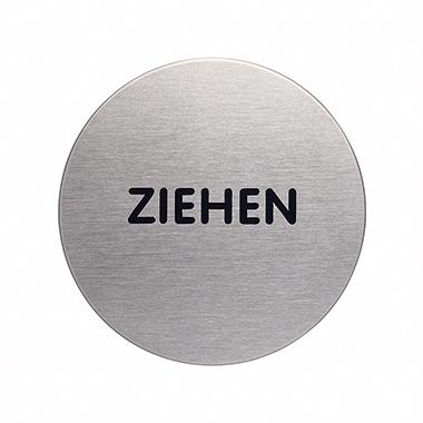 DURABLE Piktogramm Türschild PICTO 65mm Edelstahl, gebürstet silber metallic Ziehen